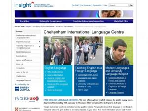 Cheltenham International Language Centre (University of Gloucestershire)
