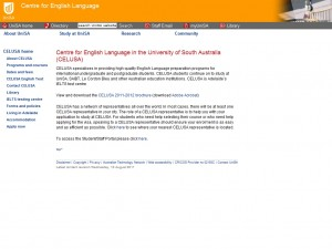 University of South Australia Centre for English Language