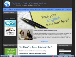 English and Culture Tutoring Services