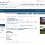 Nottingham Trent University English Language Centre